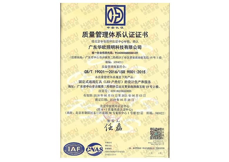 ISO9001国际质量管理体系中文版