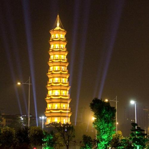 迎亚运广州珠江两岸系列部分亮化工程-赤岗塔.